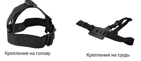 Комплект креплений (Крепление на голову+крепление на грудь), фото 2