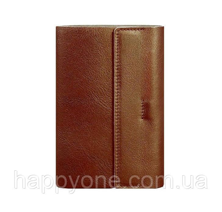Кожаный блокнот cофт-бук  7.0 (светло-коричневый)