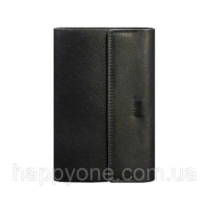 Кожаный блокнот cофт-бук  7.0 (черный) кожа Krast
