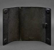 Кожаный блокнот cофт-бук  7.0 (черный) кожа Krast, фото 3