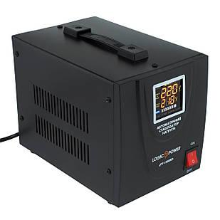 Стабилизатор LogicPower LPT-1500RD, 2 x евро, LCD