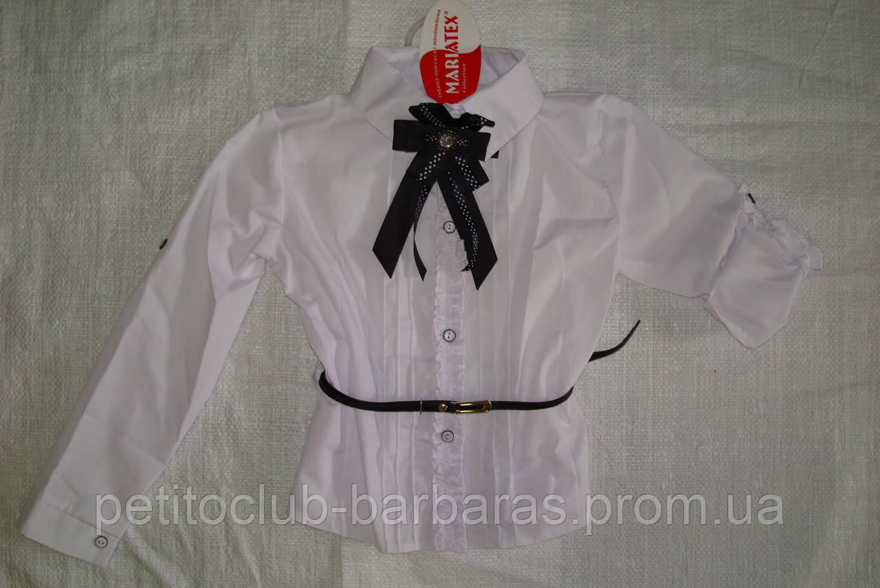 Детская блуза-трансформер белая для девочки (Польша)