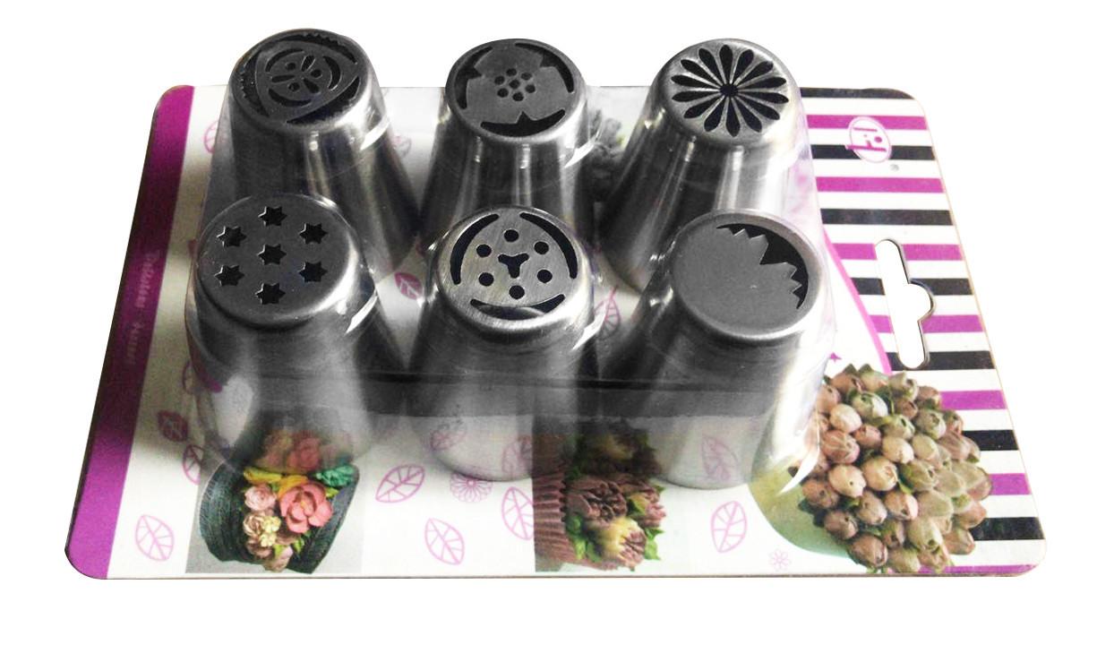 Набор кондитерских насадок Тюльпан из 6 шт