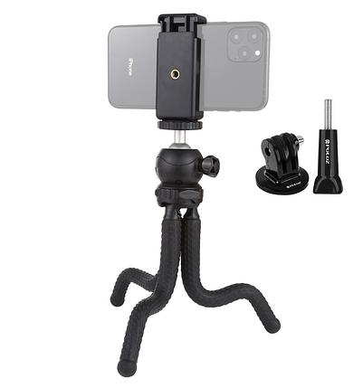 Гибкий штатив для телефона,фотокамер,экшн камер Puluz 25cm + крепление для телефона и GoPro, фото 2