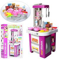 Детская игрушечная кухня с кофеваркой, с мойкой и духовкой 922-45 свет звук