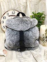 Хутряний рюкзак з натурального хутра кролика