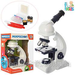 Микроскоп (Подсветка, инструменты) на батарейке 27х20х13см (Limo Toy) арт. C2129