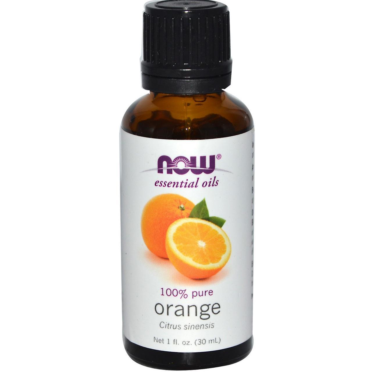 Эфирные масла, апельсин, 30 мл Now Foods