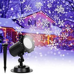 Лазерный проектор Star Shower WHITE Snowflake 602 (Цветные снежинки)