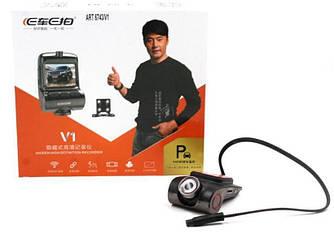 Видеорегистратор автомобильный DVR 6743V1 WIFI с двумя камерами