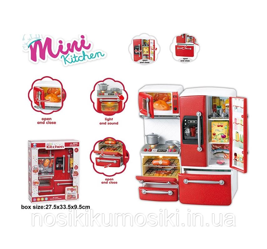 Игровой набор Детская кухня 2 секции, звук, свет, кухня для кукол типа Барби 66096-2