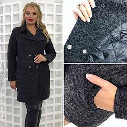 Пальто женское зимнее черного цвета