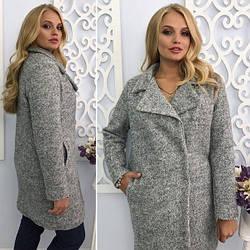 Пальто зимнее серого цвета  от YuLiYa Chumachenko