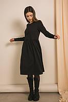 Женское трикотажное платье на каждый день черного цвета