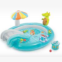 Игровой центр-бассейн Intex 57129  с крокодилом 203*173*89см***