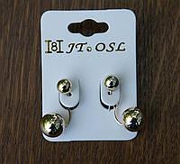 Удлиненные сережки матрешки (золото) - модная бижутерия RRR- пусеты стиля Dior. 226