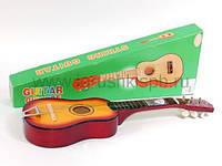 Детская гитара  деревянная,6 струн