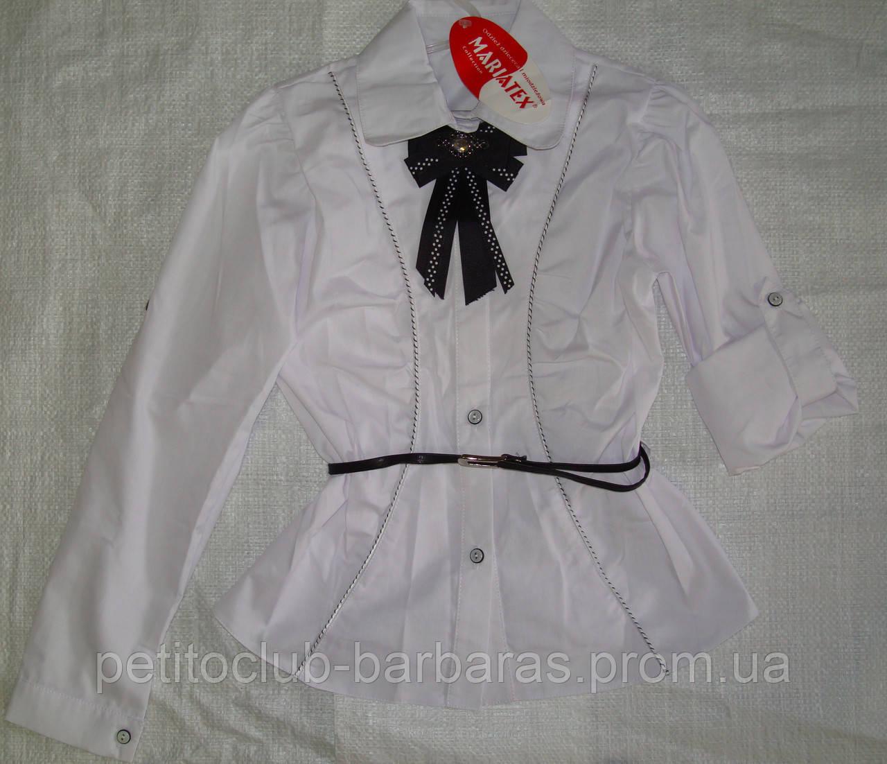 Блуза-трансформер белая подростковая р. 140-164 (Польша)