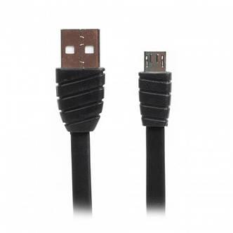 Кабель Cablexpert (CCPB-M-USB-02BK) USB 2.0 A - microUSB, премиум, плоский, 2.4А, 1м, черный, фото 2