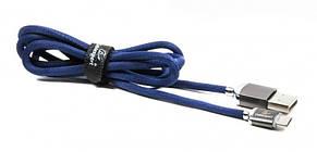 Кабель Cablexpert (CCPB-M-USB-07B) USB 2.0 A - microUSB, преміум, 1м, синій, фото 2