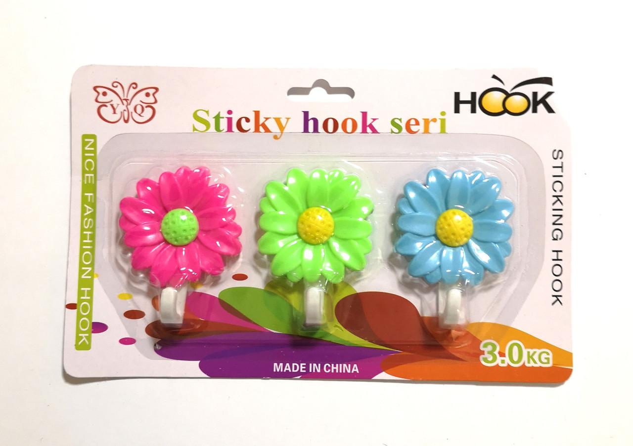 Набор крючков-вешалок Цветок из 3-х шт
