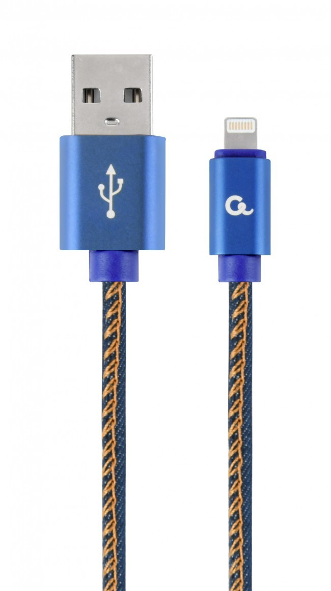 Кабель Cablexpert (CC-USB2J-AMLM-2M-BL) USB 2.0 - Lightning, премиум, 2м, синий