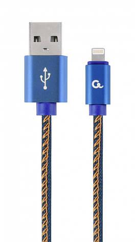Кабель Cablexpert (CC-USB2J-AMLM-2M-BL) USB 2.0 - Lightning, премиум, 2м, синий, фото 2