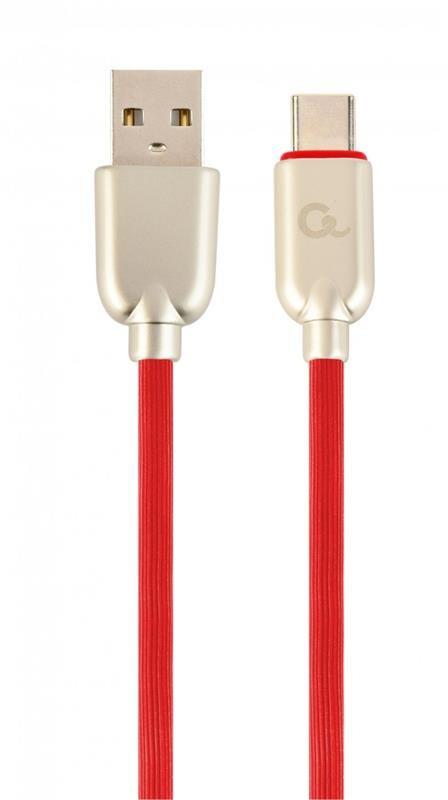 Кабель Cablexpert (CC-USB2R-AMCM-1M-R) USB 2.0 A - USB Type-C, 2.1А, премиум, 1м, красный