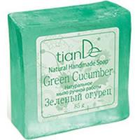 """Натуральное мыло ручной работы """"Зеленый огурец"""""""