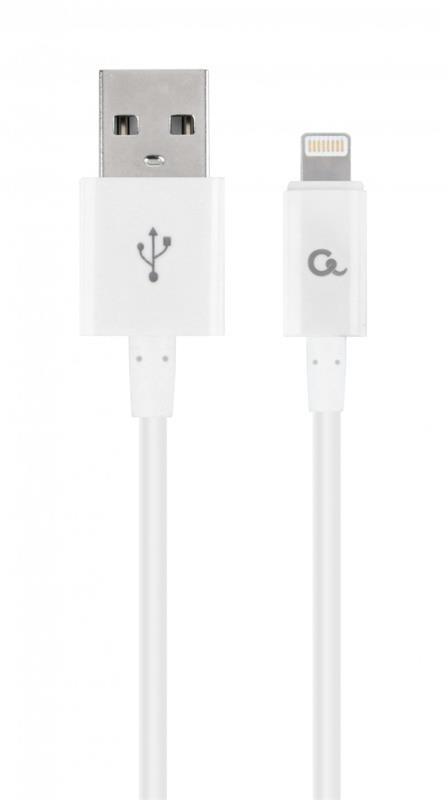 Кабель Cablexpert (CC-USB2P-AMLM-1M-W) USB 2.0 A - Lightning, премиум, 1м, белый