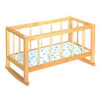 Игрушечная кроватка для кукол Вудис 7006, коробка 7006К
