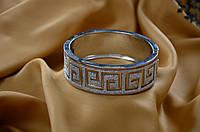 """Свадебный браслет в греческом стиле, """"под серебро"""""""