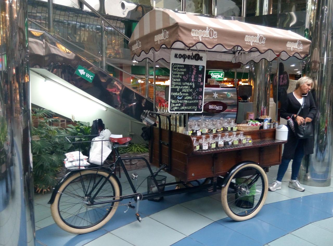 """Велотележка для велокофейни """"Old Europe""""(ВТ-2)"""