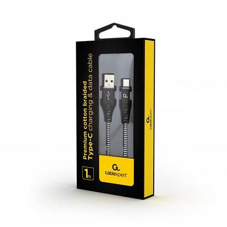 Кабель Cablexpert (CC-USB2B-AMCM-1M-BW) USB 2.0 A - USB Type-C, премиум, 1м, черный, фото 2