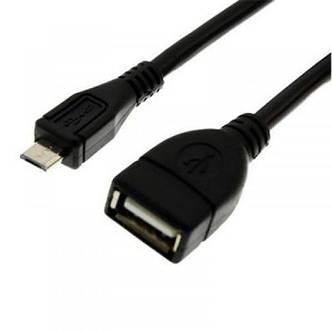 Адаптер Grand-X USB(AF)-microUSB(BM) Black (GXOTG), фото 2
