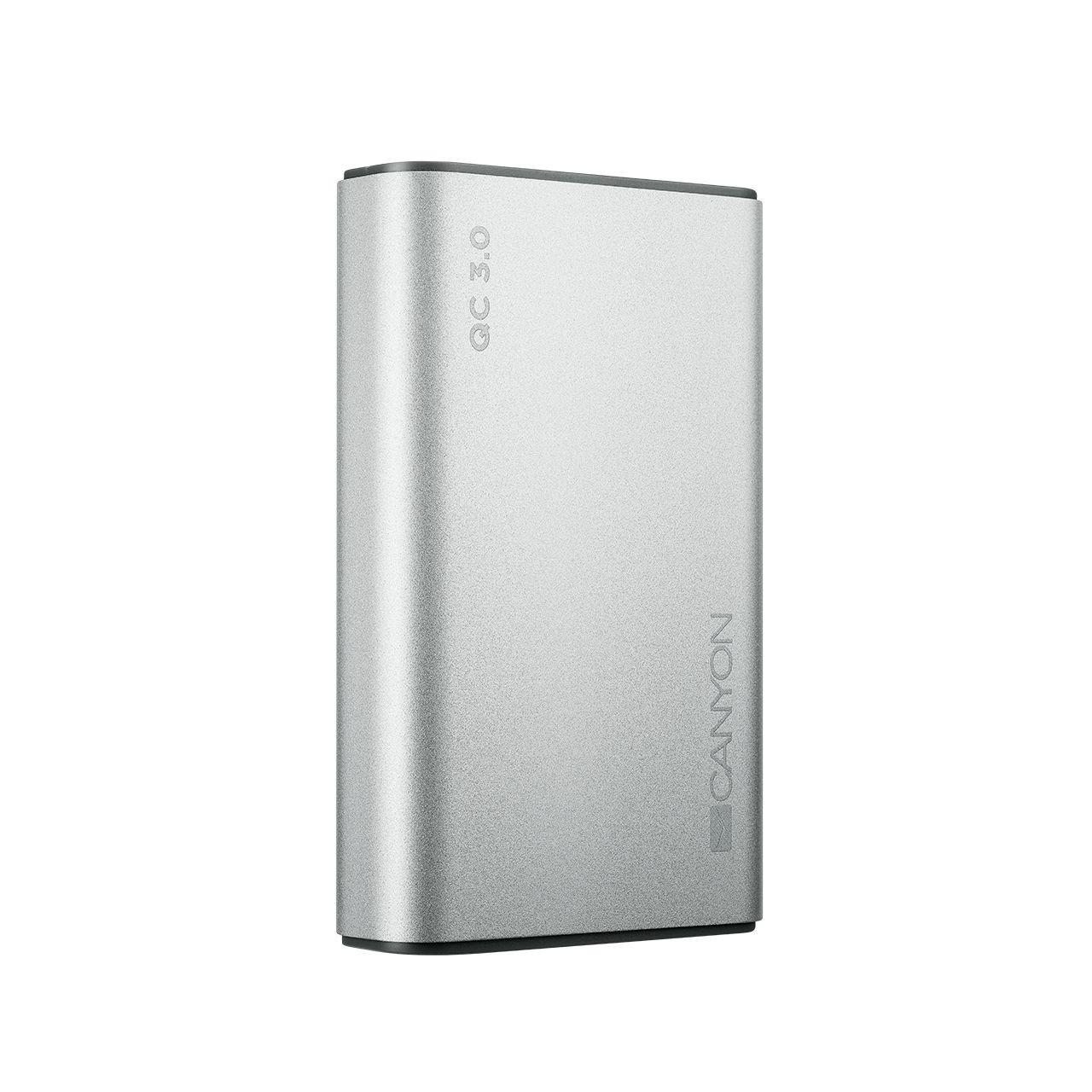 Универсальная мобильная батарея Canyon 10000mAh QC3.0 Silver (CND-TPBQC10S)
