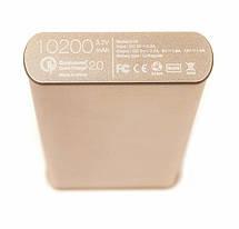 Универсальная мобильная батарея PowerPlant Q1S Quick-Charge 2.0 10200mAh Gold (DV00PB0005G), фото 3