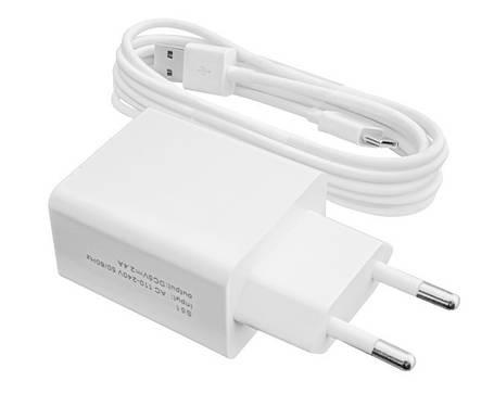 Сетевое зарядное устройство LogicPower (1USBx2.4A) АС-013 White (LP9625) + кабель USB Type-C, фото 2