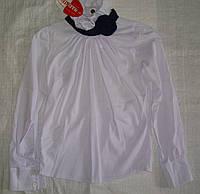 Блуза белая для девочки с Розой