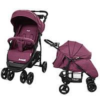 Коляска прогулочная CARRELLO Avanti CRL-1406   Purple в льне ***