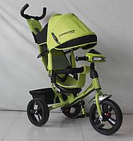 Трехколесный велосипед Crosser One T1 фара (EVA колеса),зеленый***