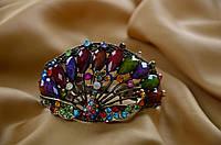 Браслет свадебный  с разноцветными камнями.