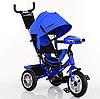 Трехколесный велосипед TURBO TRIKE M 3115HA-14 синий, колеса надувные ***