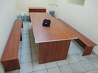 Стол обеденный для персонала со скамьей