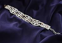 Роскошный свадебный женский браслет.