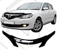 Дефлектор капота  Mazda 3 с 2003 хэтчбек, Мухобойка Mazda 3