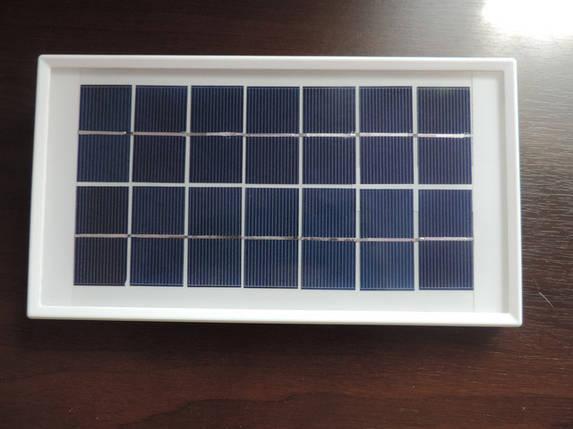 Поликристаллическая солнечная панель 7 V - 3,5 W Походная солнечная батарея Зарядка для телефона в походе, фото 2