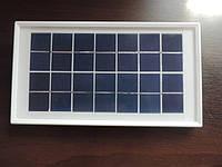 Поликристаллическая солнечная панель 7 V - 3,5 W Походная солнечная батарея Зарядка для телефона в походе