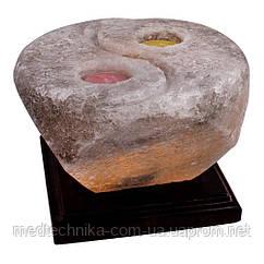 "Соляная лампа ""Инь-ян"", дерево, 4,3 кг"