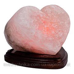 """Соляная лампа """"Сердце алое"""", дерево, 2,0 кг"""